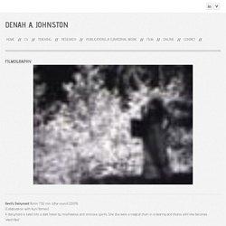Filmography - Denah A. Johnston