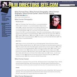 Milos Forman Filmography