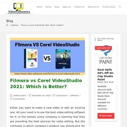 Filmora vs Corel VideoStudio 2021