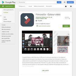 FilmoraGo - Éditeur vidéo