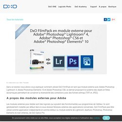 DxO FilmPack 3 en module externe pour Adobe Photoshop Lightroom 4, Adobe Photoshop CS6 et Adobe Photoshop Elements 10