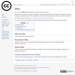Films - Creative Commons