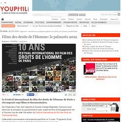 Films des droits de l'Homme: le palmarès 2012