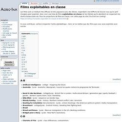 Films exploitables en classe