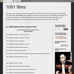 1001 films: Les 1000 meilleurs films du 20ème siècle