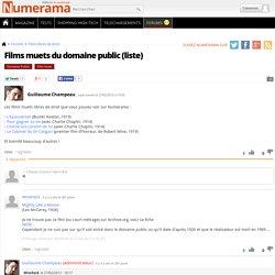Films muets du domaine public (liste)