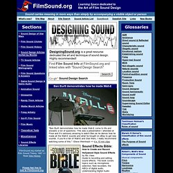 FilmSound.org: dedicated to the Art of Film Sound Design & Film Sound Theory