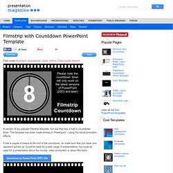 Filmstrip with Countdown PowerPoint Template
