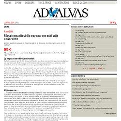 advalvas: Filosofenmanifest: Op weg naar een echt vrije universiteit