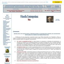 Karl Marx - marxismo - Filosofía Contemporánea - Comunismo
