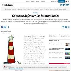 Filosofía: Cómo no defender las humanidades