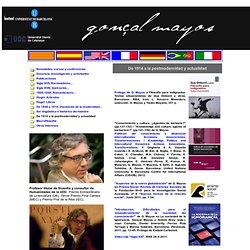 Gonçal Mayos filosofía, política, ideas, obras, pensamiento, estudios