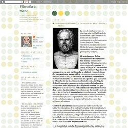 Filosofía a mano: PRESOCRÁTICOS (X): La escuela de Elea – Zenón y Meliso