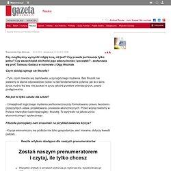 Prof. Tadeusz Gadacz: filozofia i horyzonty poznania