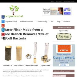 Easy natural and low cost waterfilter