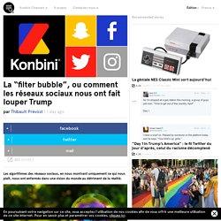 """La """"filter bubble"""", ou comment les réseaux sociaux nous ont fait louper Trump"""