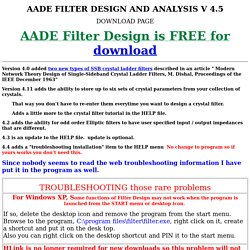 FREE filter design and analysis program