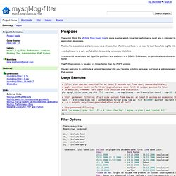 mysql-log-filter - Google Code