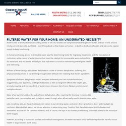 Filtered Water for Your Home: An Underrated Necessity