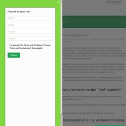 What is Webroot filtering extension? - Safewebroot