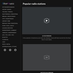 FilterMusic | Internet radio stations, electronic & house music,
