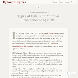 Types of Filters for Your Air Conditioning System – Hylton 72 Degrees