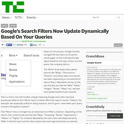 Google's Search Filters Now Update Dynamically Based On Your Queries
