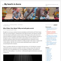 Who Filters Your News? Why we built gobo.social – MIT MEDIA LAB