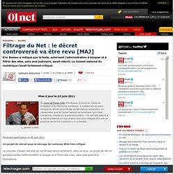 Le Conseil national du numérique tance un projet de décret de filtrage du Net