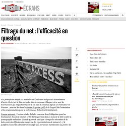 Filtrage du net : l'efficacité en question