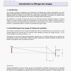 Filtrage images