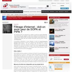 Filtrage d'Internet : doit-on avoir peur de SOPA et PIPA?