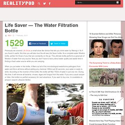 The Water Filtration Bottle