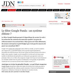 Le filtre Google Panda: un système élitiste?