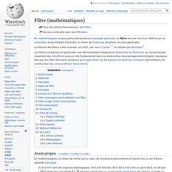 Filtre (mathématiques)
