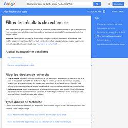 Options de résultats de recherche - Centre d'aide RecherchesurleWebGoogle