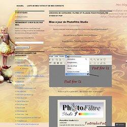 Filtres et plugins pour Photofiltre Studio et PSP