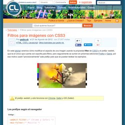 Filtros para imágenes con CSS3