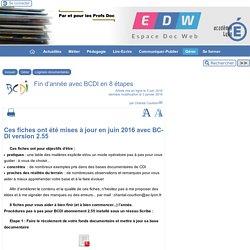 Fin d'année avec BCDI en 8 étapes