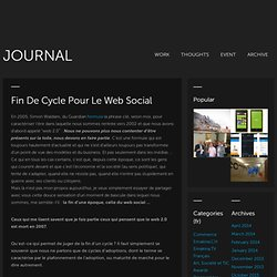 Fin de cycle pour le web social « Le blog groupe Reflect