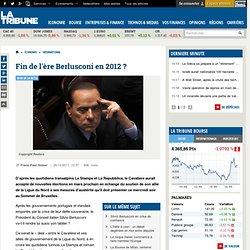 Berlusconi pourrait quitter le gouvernement en 2012