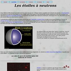 La fin des étoiles massives - les étoiles à neutrons