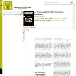 La fin de la publicité (Gérard Lagneau)