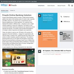 Finacle Online Banking Solution - Truly Digital Banking Model for SME Banks