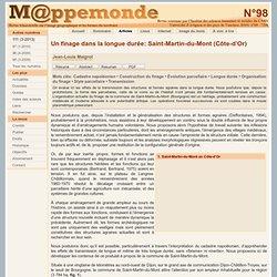 Un finage dans la longue durée: Saint-Martin-du-Mont (Côte-d'Or)