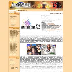 Final Fantasy X-2 World