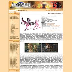Final Fantasy XIII-2 World