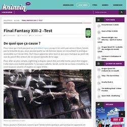 Final Fantasy XIII-2 -Test