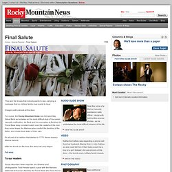Final Salute : News : The Rocky Mountain News