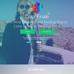 Color Finale - Professional Color Grading in Final Cut Pro X